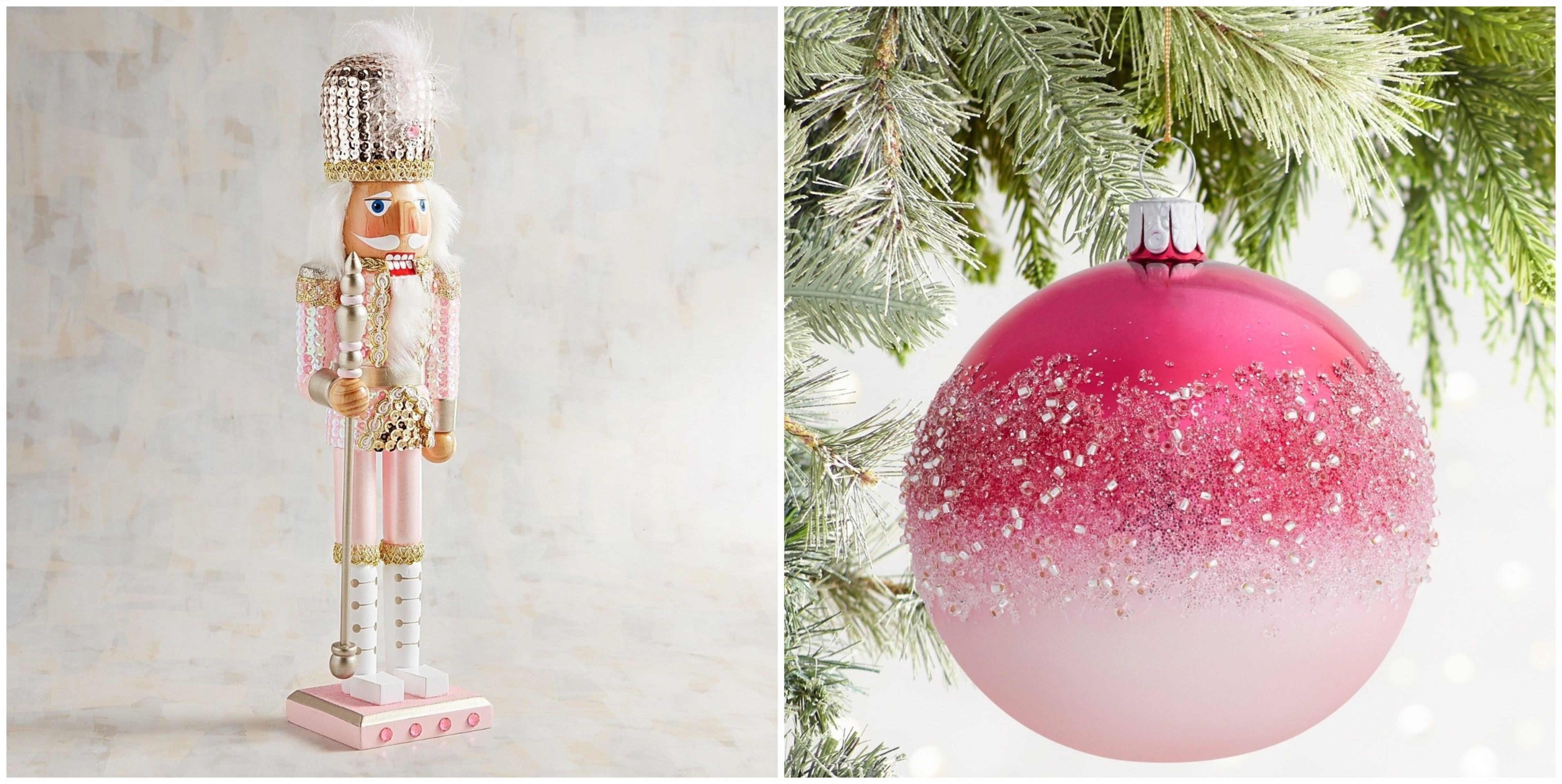 Pier 1 Christmas Ornaments.Pier 1 S Millennial Pink Holiday Decorations Are An