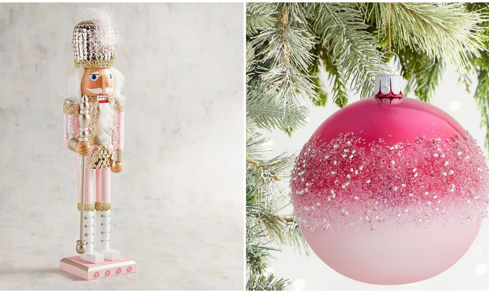 pier 1s millennial pink holiday decorations are an instagram dream