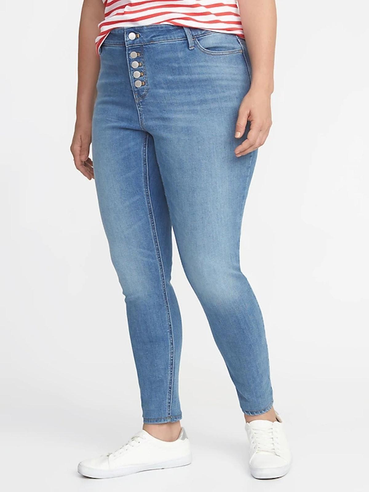 High-Rise Secret-Slim Pockets Plus-Size Button-Fly Rockstar Jeans