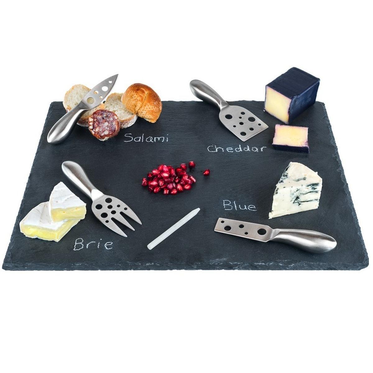 Large Slate Cheese Board Set