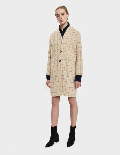Stelen Claudette Plaid Cocoon Coat