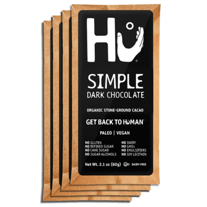Hu Kitchen Pack of 4 Simple Dark Chocolate Bars