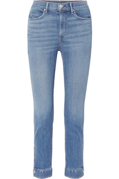 Cuffed Cigarette High-Rise Skinny Jeans