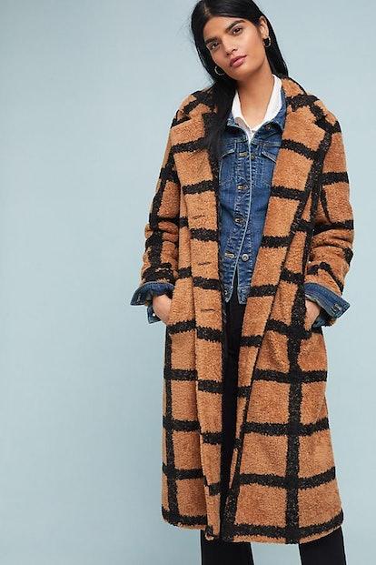 Berber-Checked Coat