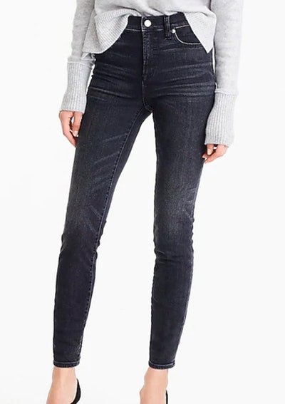 High Rise Toothpick Jean In Charcoal Wash
