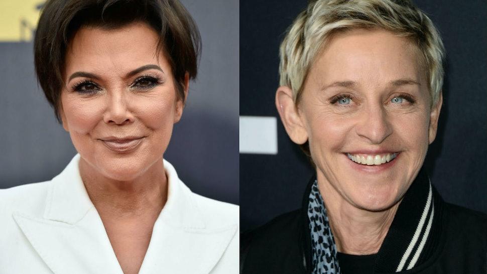 Ellen Degeneres Scared Kris Jenner The Kuwtk Star S Reaction Is