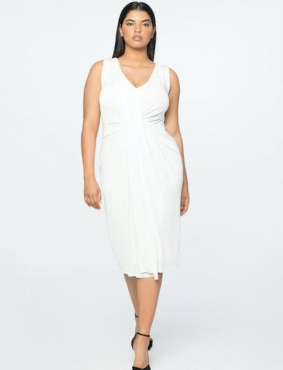 Jason Wu X ELOQUII Drape Front V-Neck Dress