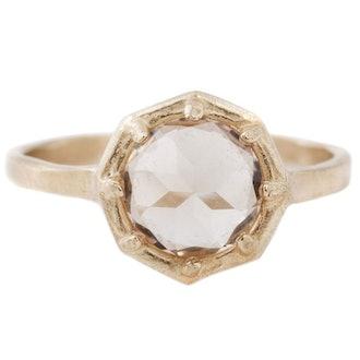 Champagne Quartz Gold Ring