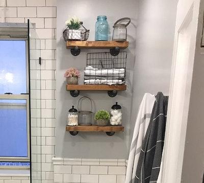 Barn Wood Floating Shelves