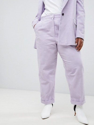 Turn Up Tapered Cord Pants