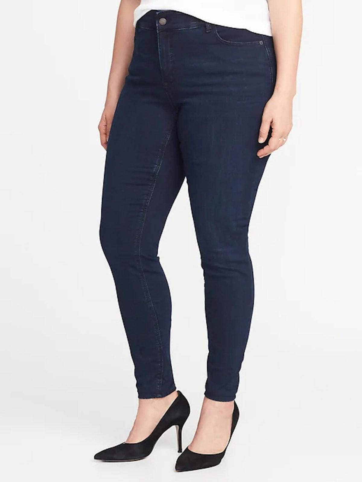 High-Rise Secret-Slim Pockets + Waistband Plus-Size Rockstar Jeans
