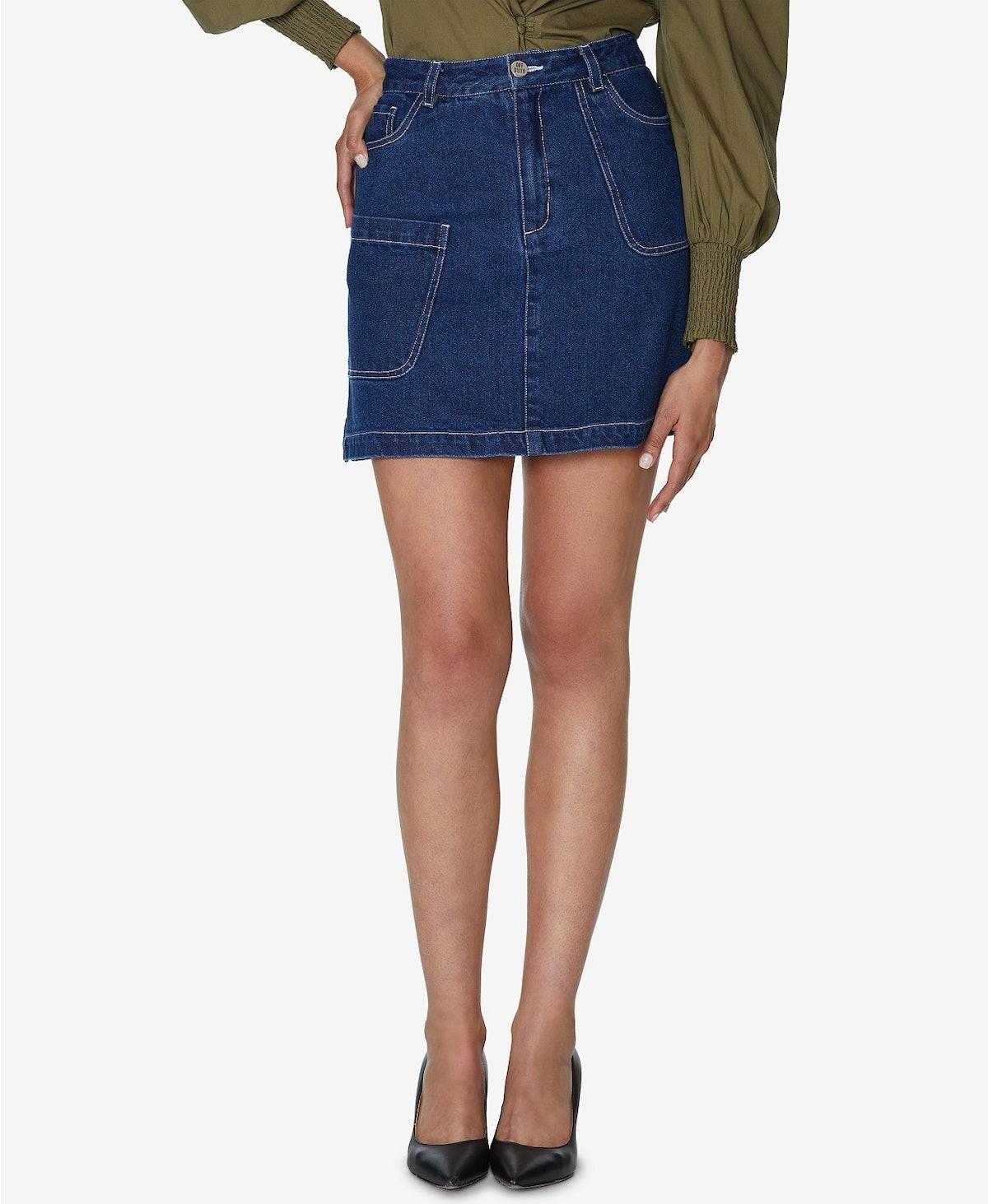 INSPR x Natalie Off Duty Denim Mini Skirt