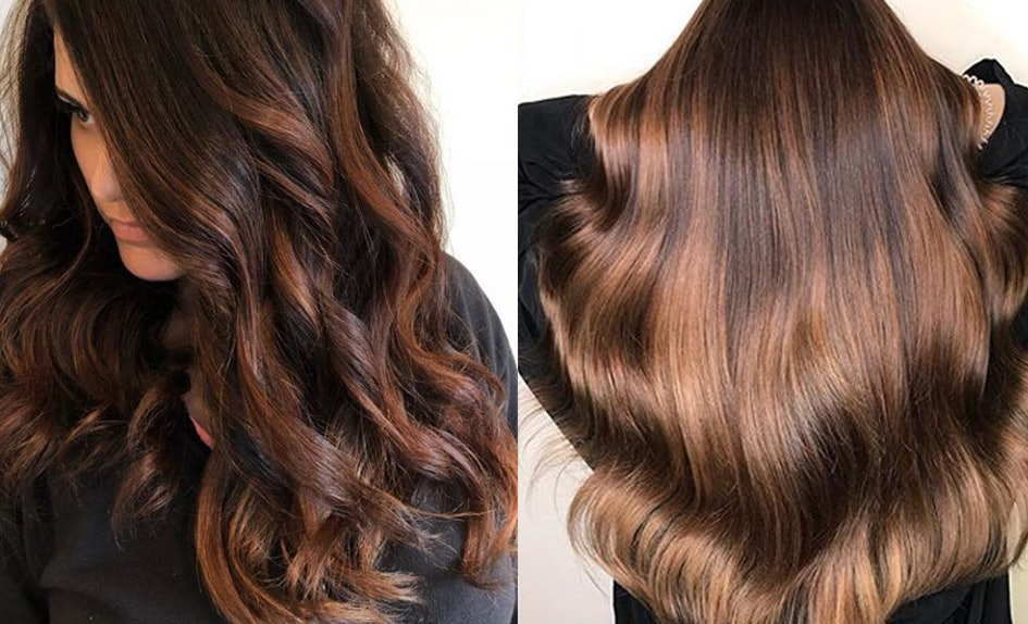 Caramel Balayage Idea For Brunettes
