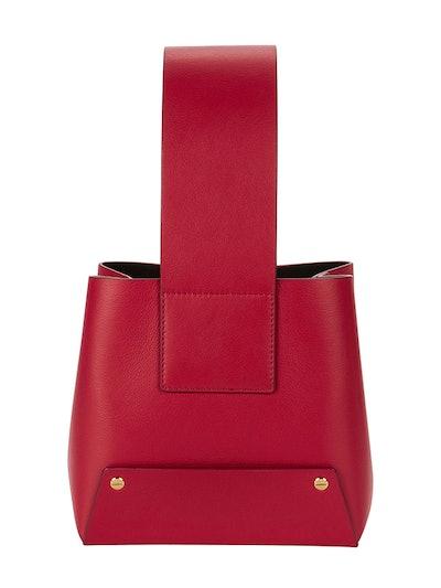 Tab Shoulder Bucket Bag