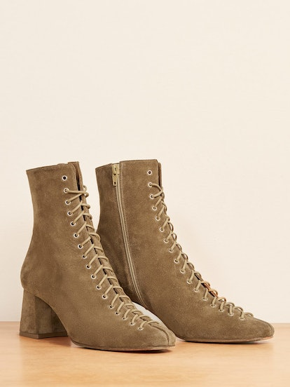 By Far X Reformation Becca Boot In Olive