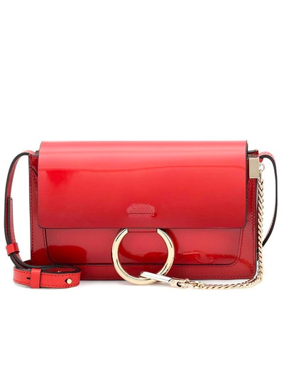 Faye Small Paten Leather Shoulder Bag