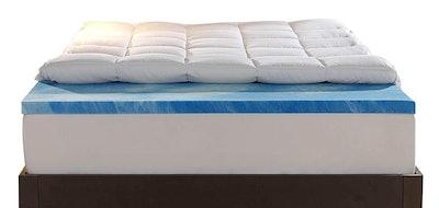 Sleep Innovations Dual Layer Queen Mattress Topper