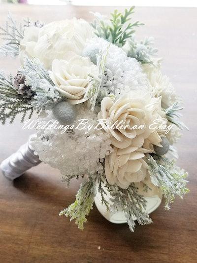 Sola Winter White Wedding Bouquet