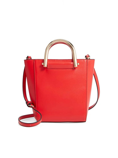 Lacey Metal Top Handle Shoulder Bag