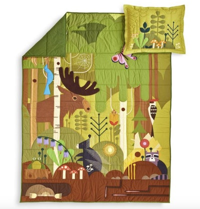 Woodland Animals Quilt & Sham Set
