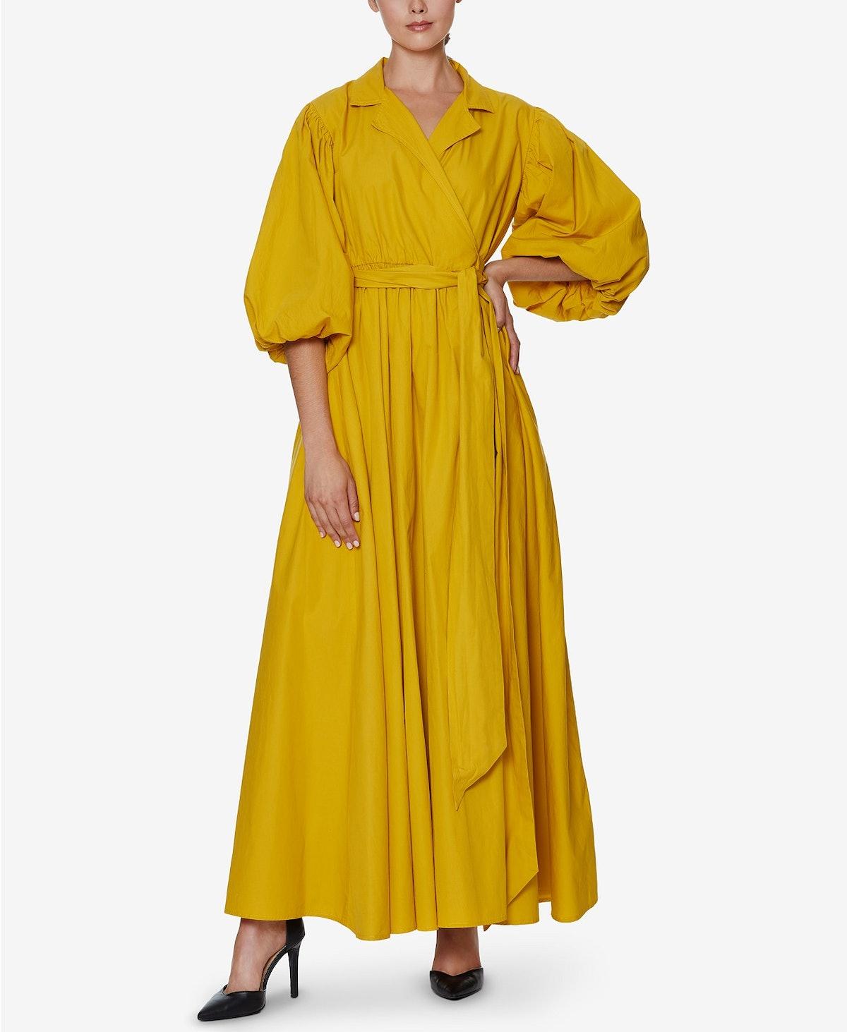 INSPR x Natalie Off Duty Poplin Wrap Maxi Dress