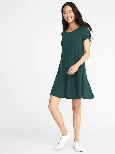 Plush-Knit Swing Dress