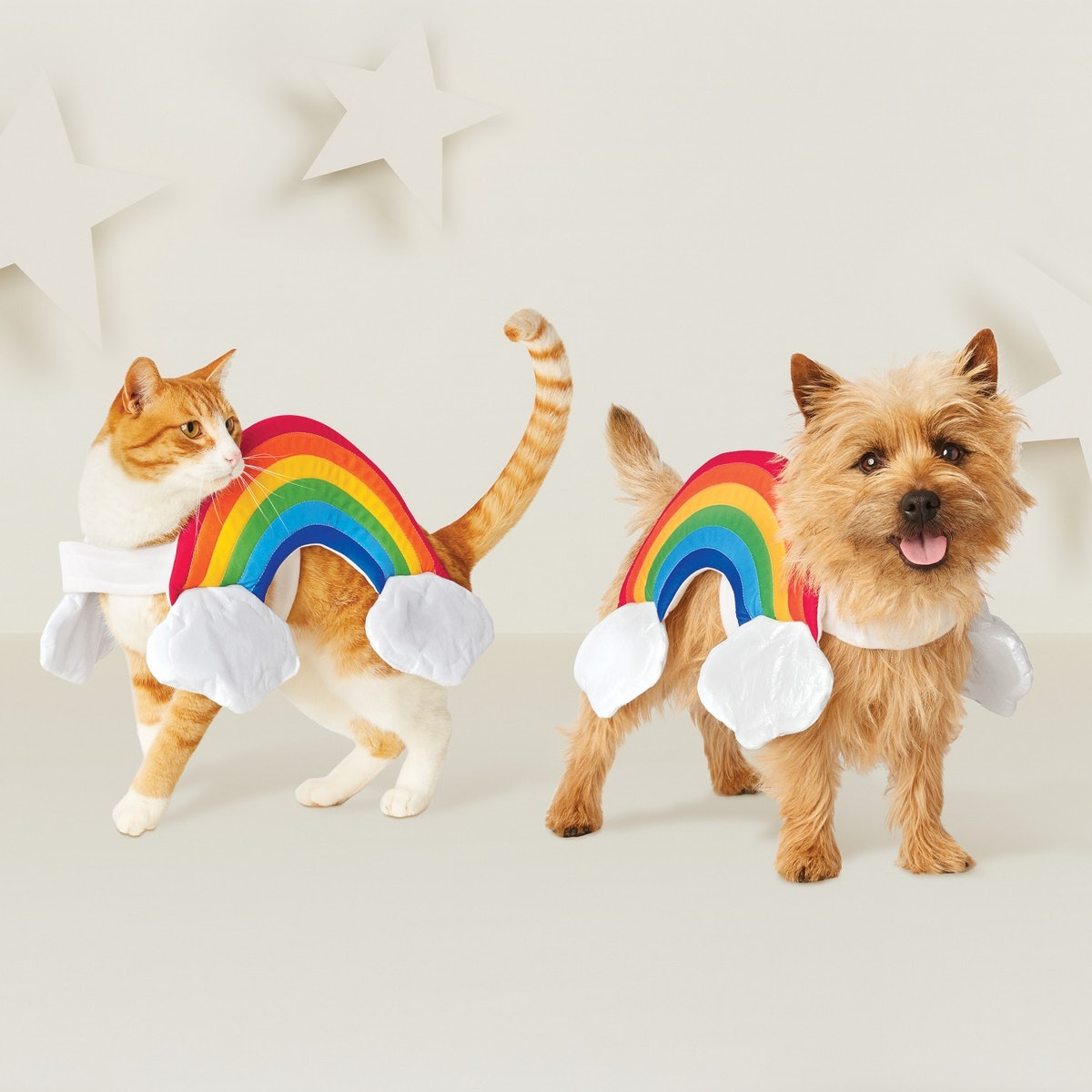Rainbow Dog Costume - Rainbow/White - Hyde and Eek! Boutique