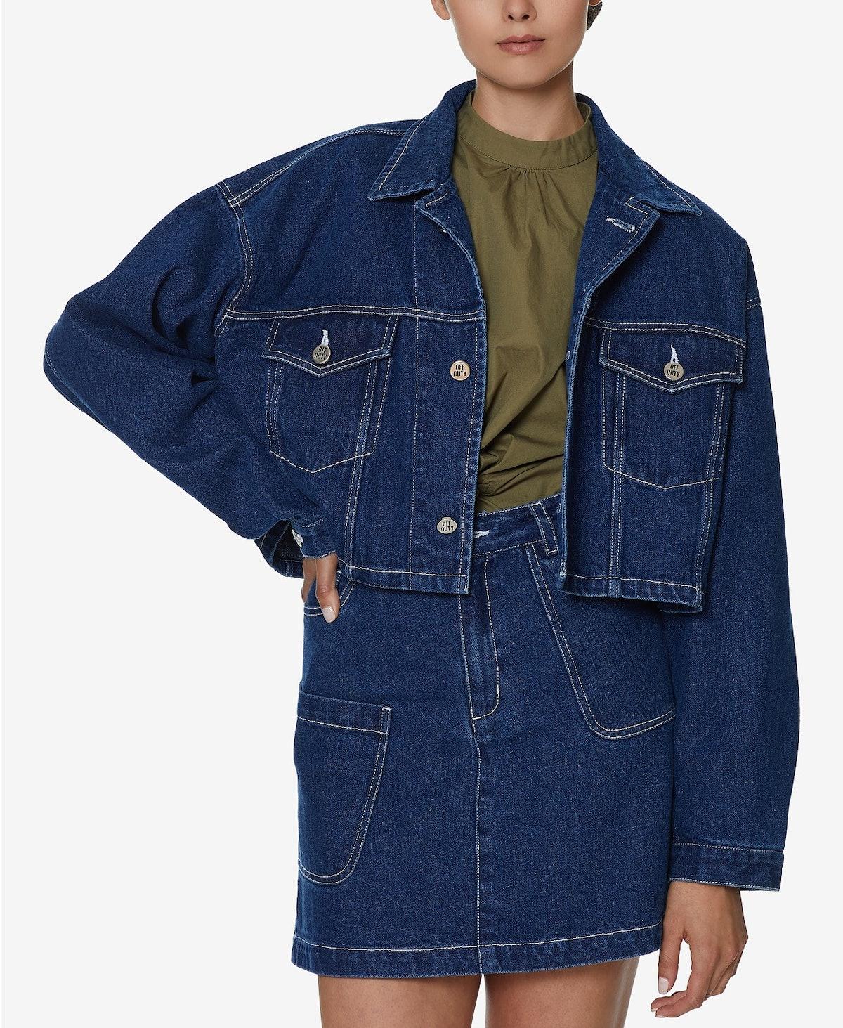 INSPR x Natalie Off Duty Crop Denim Jacket