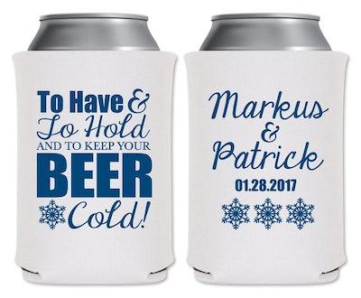 Wedding Can Coolers Beverage Insulators