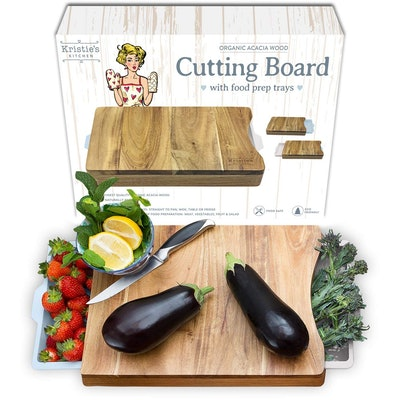 Kristie's Kitchen Cutting Board with Trays