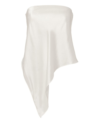 Michelle Mason Asymmetrical Bustier Top