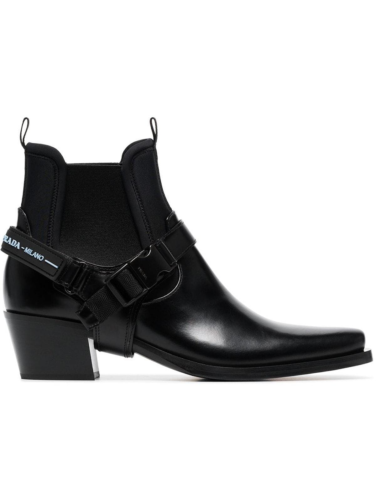 Black 50 Leather Cowboy Boots