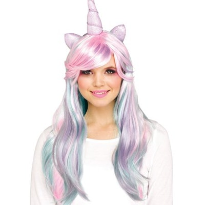 Pastel Unicorn Halloween Costume Accessory Wig