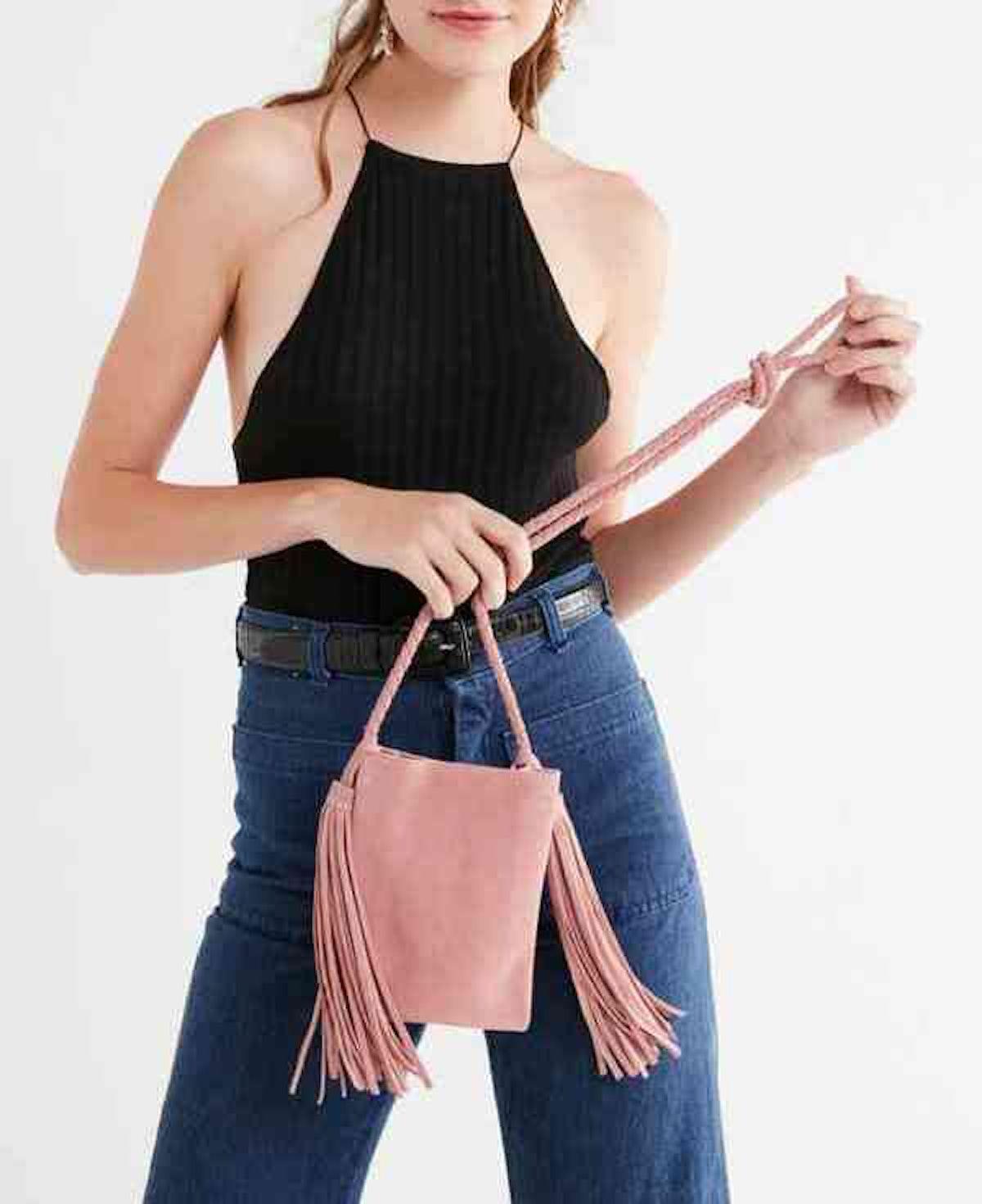 Tassel Fringe Mini Crossbody Bag
