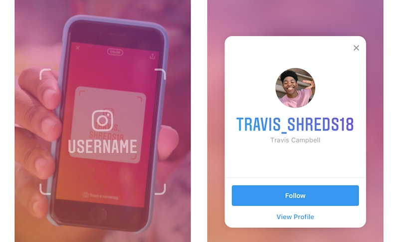 How to make name tag on instagram