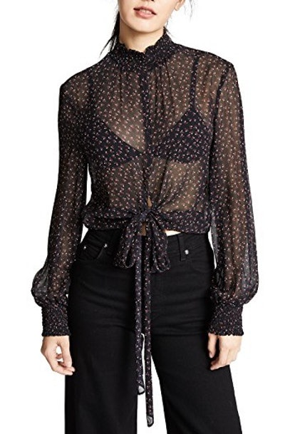 Dirty Rose Tie Blouse