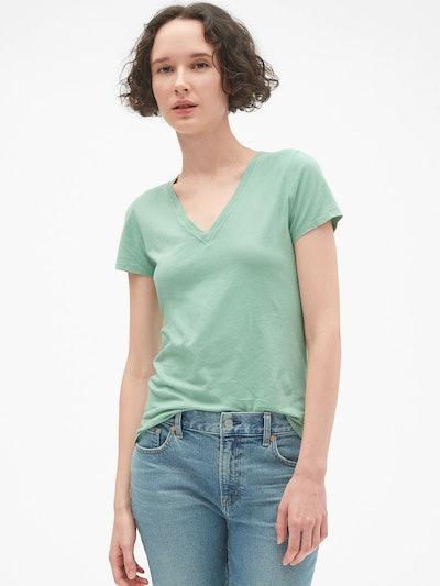 Gap Vintage V-Neck Tee Shirt