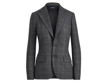 Windowpane Wool Blazer