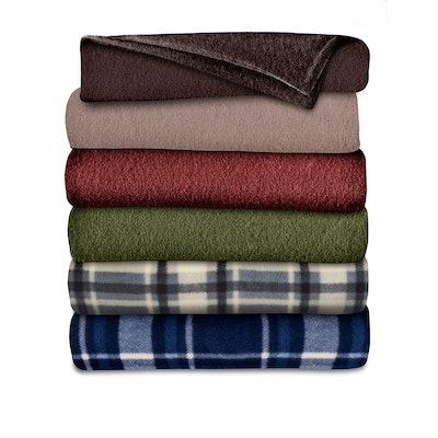 Sunbeam Fleece Heated Throw Blanket