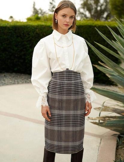 Lace Cuff Oversize Shirt
