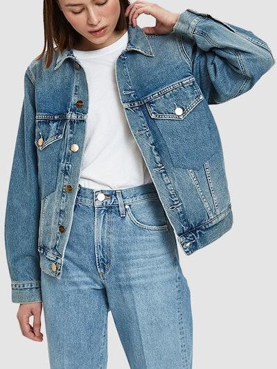 Morton Denim Jacket in Used Blue