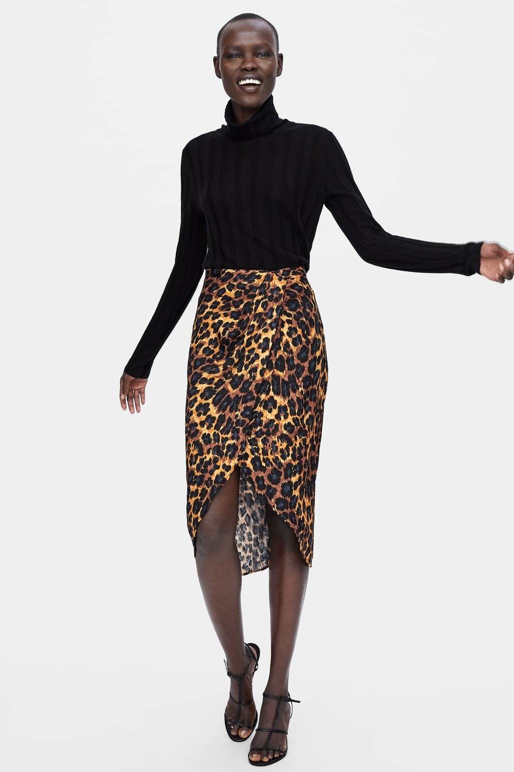 65cea971 11 Leopard Print Zara Dresses, Skirts, & More New Pieces Under $50 To Shop  From The Latest Arrivals