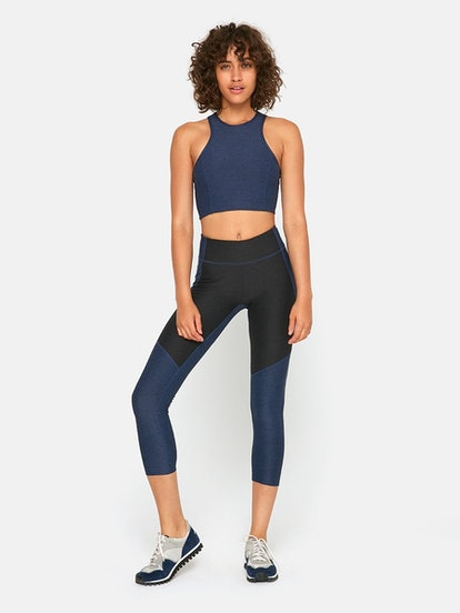 3/4 Two-Tone Legging In Navy/Charcoal