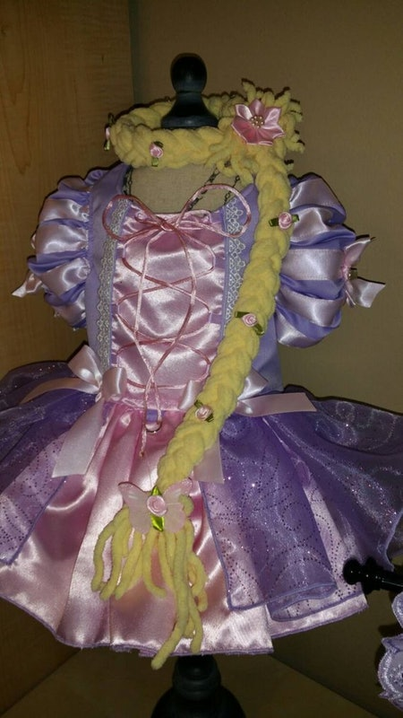 Rapunzel Dog Costume