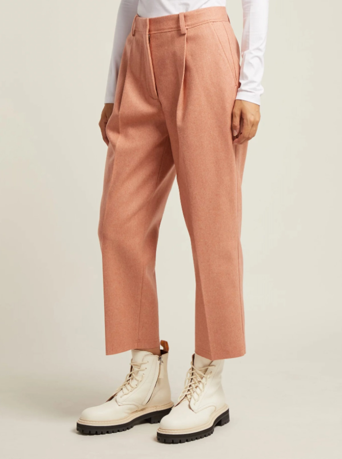 Tapered Wool-Blend Trouser