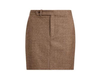 Houndstooth Tweed Miniskirt