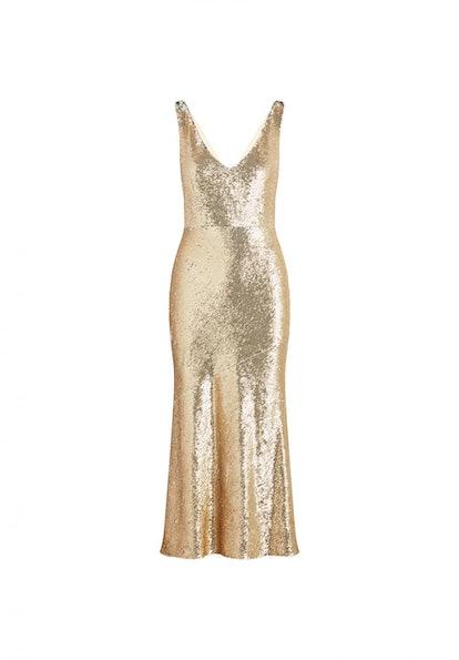 Lola Gold Metallic Sequin Dress