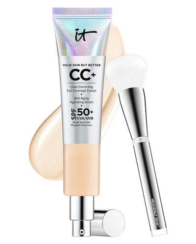 IT Cosmetics Super-Size Full Coverage SPF 50 CC Cream With Luxe Brish