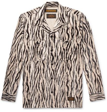 Zebra Print Faux-Fur Jacket