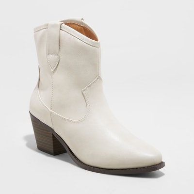 Women's Vanessa Faux Leather Short Pull On Western Boots - Universal Thread™